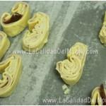 Palmeritas de jamón york y queso Idiazábal