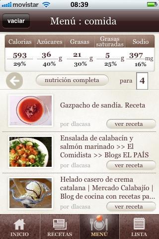 Appetitool, recetario gastronómico