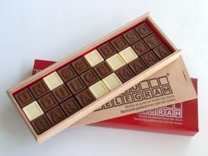 Caja de chocolate con mensaje
