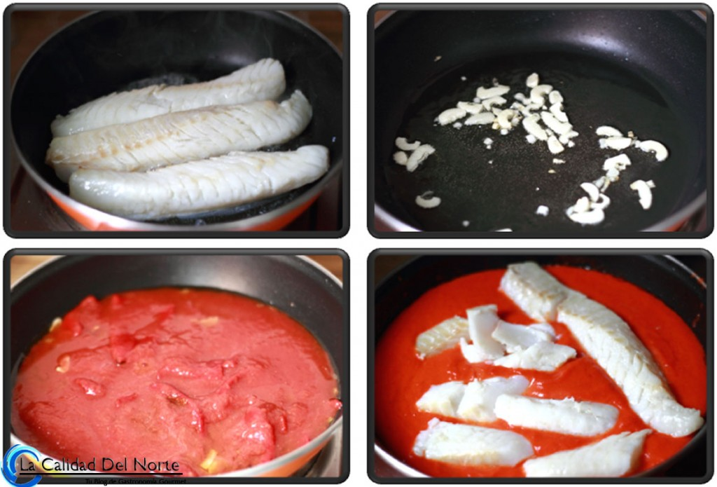 Bacalao en salsa de pimientos del piquillo