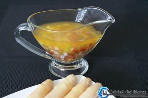 Salsa vinagreta para Espárragos de Navarra