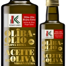 Botellas aceite oliva eusko label