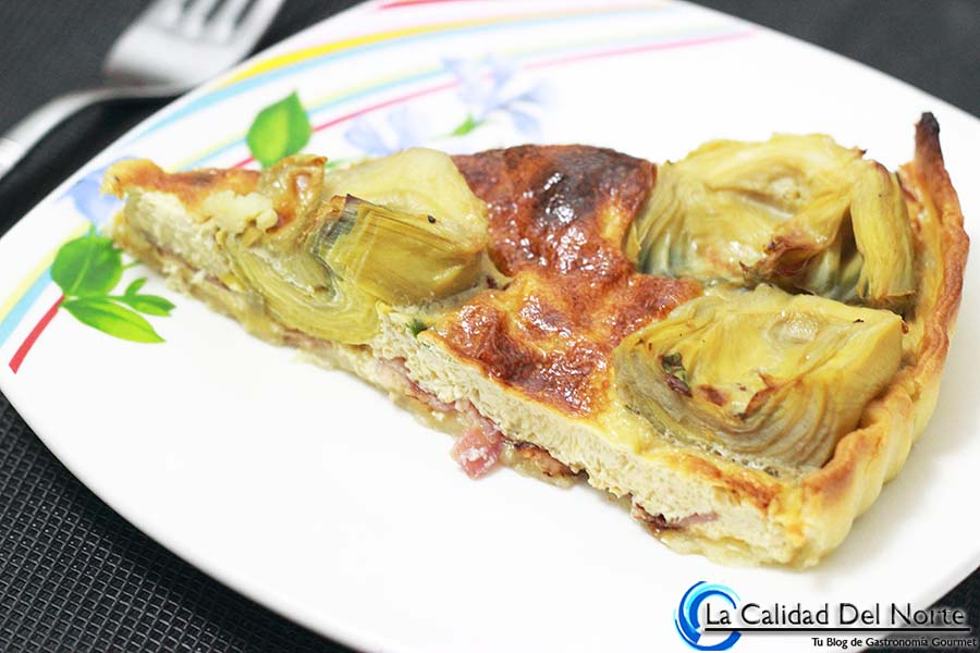 Receta: Pastel de alcachofas de Navarra con bacón