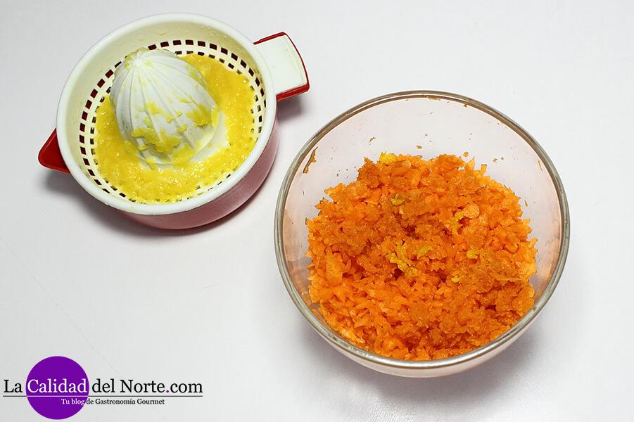 Bizcocho de zanahoria con chocolate La Calidad del Norte
