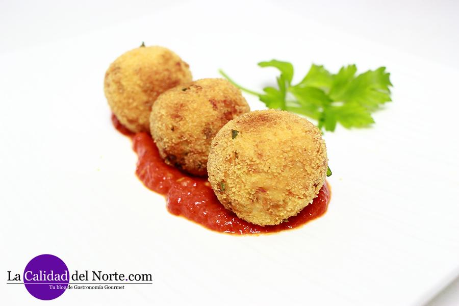 Receta albóndigas bonito con requesón y salsa de piquillo - MahatsHerri LaCalidadDelNorte CalidadVasca Serrats Lodosa