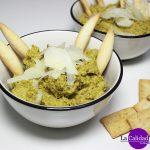 Hummus de guisantes de Lodosa con pistachos e Idiazábal